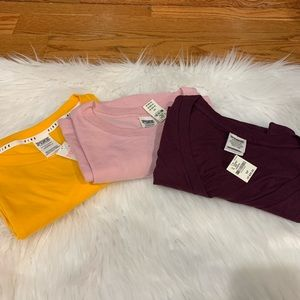 (3) New PINK Victoria's Secret tee shirts